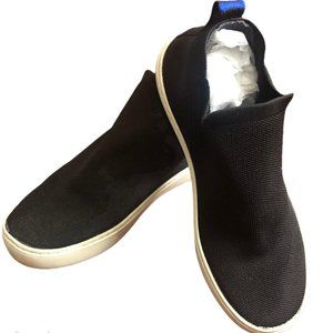 ROTHYS THE CHELSEA BLACK PULL ON SNEAKERS SIZE 8.5
